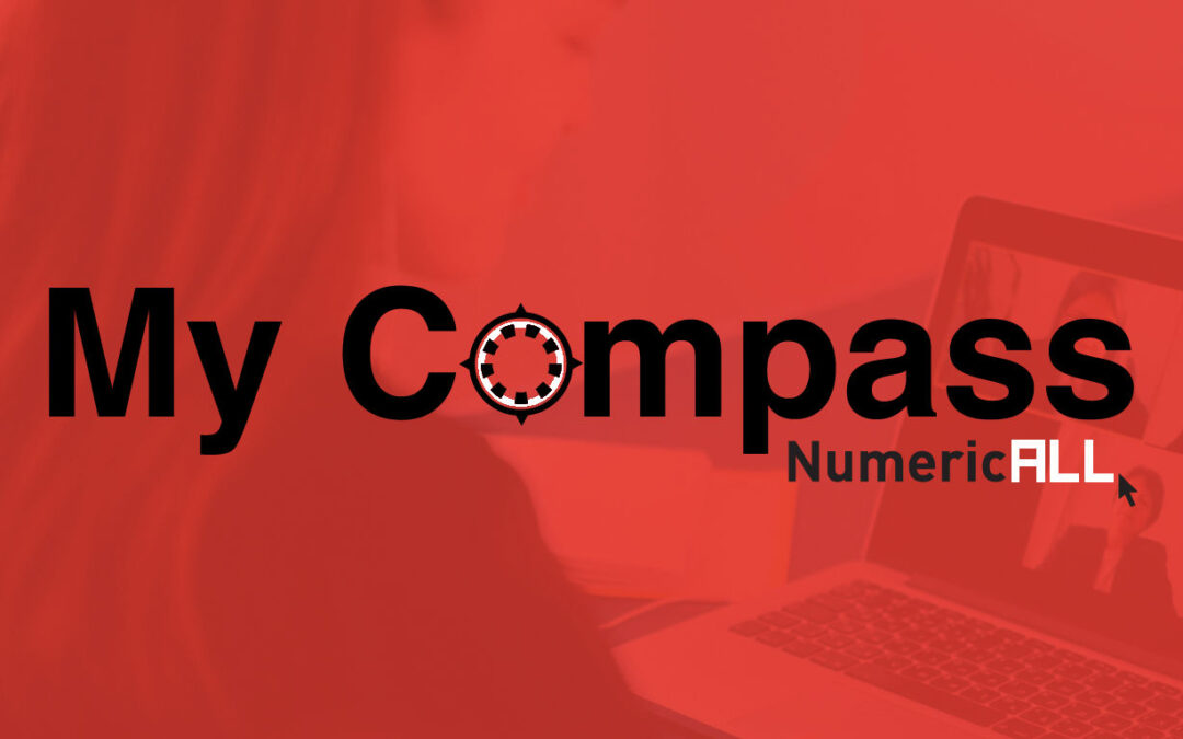 My compass logo visual